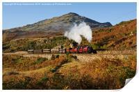 Snowdonian autumn steam, Print