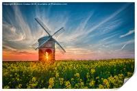 Sunburst at Chesterton windmill, Print