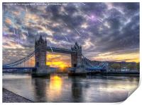 Tower bridge of london, Print