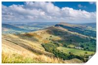 Peak District - The Great Ridge at Castleton, Print