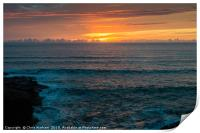 Sunset at Polzeath Cornwall, Print