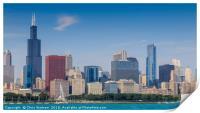 Chicago cityscape, Print