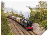 46100 The Royal Scot. Steaming through Cornwall, Print