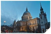 Saint Pauls Cathedral in London, Print