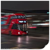 Red Bus on the streets of London, Print