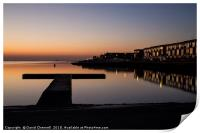 West Kirby Sunset Reflection   , Print