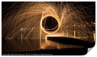 Wire Wool Spinning   , Print