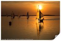 Sunset Sailing , Print