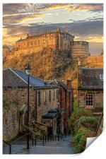 Edinburgh Sunset from the Vennel, Print