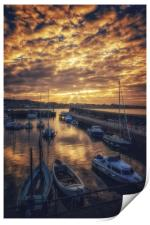 God rays over North Berwick, Print