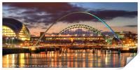 Tyne Bridges, Print