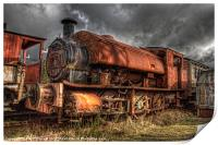 HDR Old Steam Train, Print