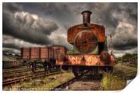 No 6 at Tanfield Railway, Print