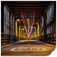 Bus Trails on the High Level Bridge, Print