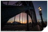 Sunrise from the Tyne Bridge, Print