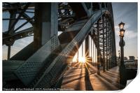 Sun Through the Tyne Bridge, Print