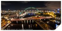 Tyne Bridge Panorama , Print