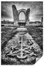 Egglestone Abbey , Print