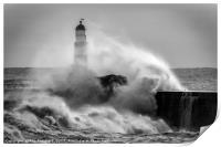 Storm Surge at Seaham, Print