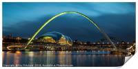 Green Millennium Bridge, Print