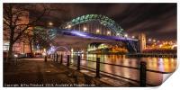 Tyne Bridge at Night, Print
