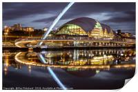 Gateshead Millennium Bridge, Print
