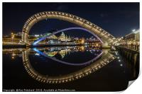 Millennium Bridge Tilted, Print