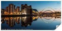 View of the Gateshead Riverside, Print