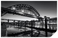 Tyne Bridge and a Puddle, Print