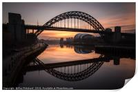 Sunrise at the Tyne Bridge, Print