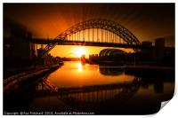 Tyne Bridge Artwork, Print