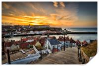 199 steps whitby., Print