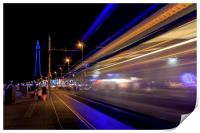 Blackpool at night, Print