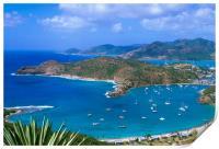 English Harbour Antigua, Caribbean , Print