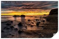 Sunrise at Seahams Chemical Beach, Print