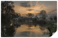 Sunrise at Bridge Cottage Flatford, Print