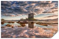 Castle Stalker Reflected, Print