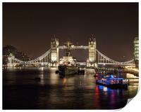 Tower Bridge London at Night, Print