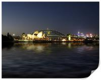 sydney harbour night, Print