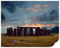 stonehenge at dusk, Print
