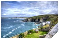 View from Lewinnick Lodge Pentire, Print