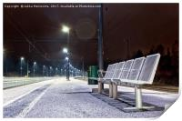 Empty Seats at the Railway Station, Print
