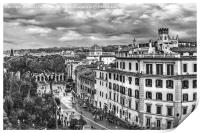 Rome Aerial Cityscape View From Campidoglio, Print