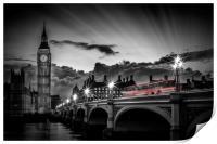 LONDON Westminster Bridge at Sunset, Print