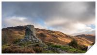 Bruces Stone, Glen Trool, Scotland, Print