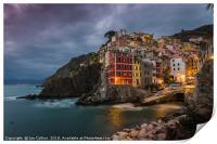 Twilight at Riomaggiore, Print