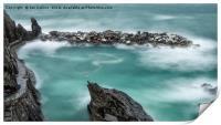 The Waves in Manarola, Print