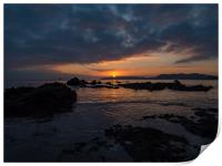 Plymouth Sound Sunset, Print