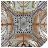 The Transept, Lincoln Cathedral, facing east., Print