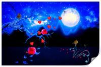 Autumn love - Moonlight, Print